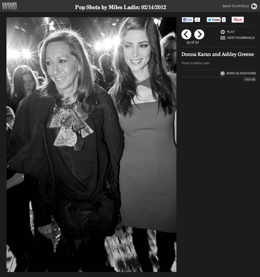 Pop ShotsShots / Donna Karan and Ashley Greene